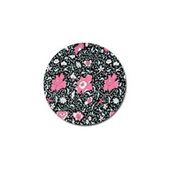 Oriental Style Floral Pattern Background Wallpaper Golf Ball Marker (10 Pack) by BangZart