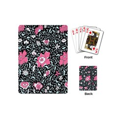 Oriental Style Floral Pattern Background Wallpaper Playing Cards (mini)  by BangZart