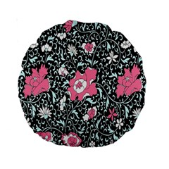 Oriental Style Floral Pattern Background Wallpaper Standard 15  Premium Round Cushions by BangZart