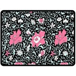 Oriental Style Floral Pattern Background Wallpaper Double Sided Fleece Blanket (Large)  80 x60  Blanket Front
