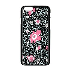 Oriental Style Floral Pattern Background Wallpaper Apple Iphone 6/6s Black Enamel Case by BangZart