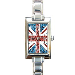 Fun And Unique Illustration Of The Uk Union Jack Flag Made Up Of Cartoon Ladybugs Rectangle Italian Charm Watch by BangZart