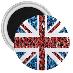 Fun And Unique Illustration Of The Uk Union Jack Flag Made Up Of Cartoon Ladybugs 3  Magnets by BangZart