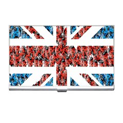 Fun And Unique Illustration Of The Uk Union Jack Flag Made Up Of Cartoon Ladybugs Business Card Holders