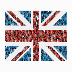 Fun And Unique Illustration Of The Uk Union Jack Flag Made Up Of Cartoon Ladybugs Small Glasses Cloth by BangZart