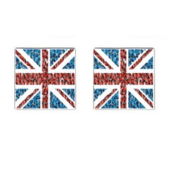 Fun And Unique Illustration Of The Uk Union Jack Flag Made Up Of Cartoon Ladybugs Cufflinks (square) by BangZart