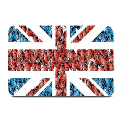 Fun And Unique Illustration Of The Uk Union Jack Flag Made Up Of Cartoon Ladybugs Plate Mats by BangZart
