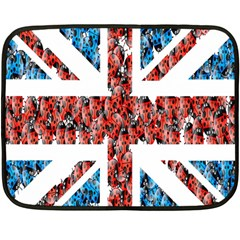 Fun And Unique Illustration Of The Uk Union Jack Flag Made Up Of Cartoon Ladybugs Fleece Blanket (mini) by BangZart