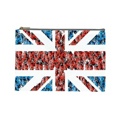 Fun And Unique Illustration Of The Uk Union Jack Flag Made Up Of Cartoon Ladybugs Cosmetic Bag (large)  by BangZart