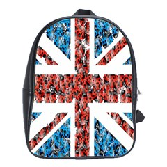 Fun And Unique Illustration Of The Uk Union Jack Flag Made Up Of Cartoon Ladybugs School Bags(large)  by BangZart