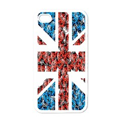 Fun And Unique Illustration Of The Uk Union Jack Flag Made Up Of Cartoon Ladybugs Apple Iphone 4 Case (white) by BangZart