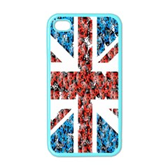 Fun And Unique Illustration Of The Uk Union Jack Flag Made Up Of Cartoon Ladybugs Apple Iphone 4 Case (color) by BangZart