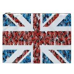 Fun And Unique Illustration Of The Uk Union Jack Flag Made Up Of Cartoon Ladybugs Cosmetic Bag (xxl)  by BangZart