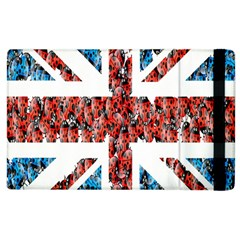 Fun And Unique Illustration Of The Uk Union Jack Flag Made Up Of Cartoon Ladybugs Apple Ipad 3/4 Flip Case by BangZart
