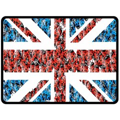 Fun And Unique Illustration Of The Uk Union Jack Flag Made Up Of Cartoon Ladybugs Double Sided Fleece Blanket (large)  by BangZart