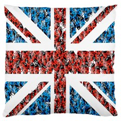 Fun And Unique Illustration Of The Uk Union Jack Flag Made Up Of Cartoon Ladybugs Standard Flano Cushion Case (one Side)