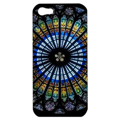Stained Glass Rose Window In France s Strasbourg Cathedral Apple Iphone 5 Hardshell Case by BangZart