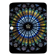 Stained Glass Rose Window In France s Strasbourg Cathedral Samsung Galaxy Tab 3 (10 1 ) P5200 Hardshell Case  by BangZart