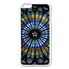 Stained Glass Rose Window In France s Strasbourg Cathedral Apple Iphone 6 Plus/6s Plus Enamel White Case by BangZart