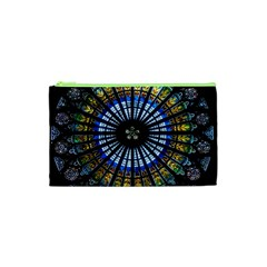Stained Glass Rose Window In France s Strasbourg Cathedral Cosmetic Bag (xs) by BangZart