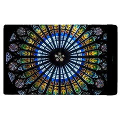 Stained Glass Rose Window In France s Strasbourg Cathedral Apple Ipad Pro 9 7   Flip Case by BangZart