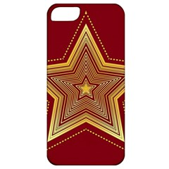 Christmas Star Seamless Pattern Apple Iphone 5 Classic Hardshell Case by BangZart