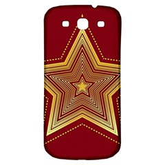 Christmas Star Seamless Pattern Samsung Galaxy S3 S Iii Classic Hardshell Back Case by BangZart