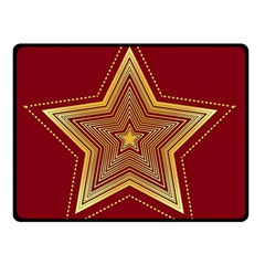 Christmas Star Seamless Pattern Double Sided Fleece Blanket (small)  by BangZart