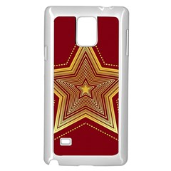 Christmas Star Seamless Pattern Samsung Galaxy Note 4 Case (white)