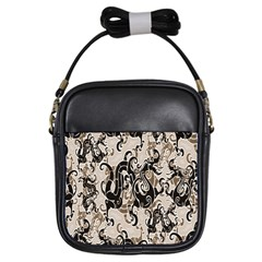 Dragon Pattern Background Girls Sling Bags by BangZart