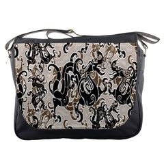 Dragon Pattern Background Messenger Bags by BangZart