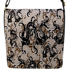 Dragon Pattern Background Flap Messenger Bag (s)