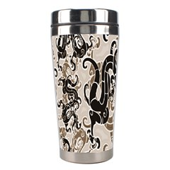 Dragon Pattern Background Stainless Steel Travel Tumblers by BangZart