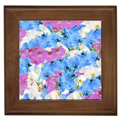Tulips Floral Pattern Framed Tiles by paulaoliveiradesign