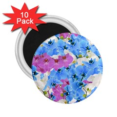 Tulips Floral Pattern 2 25  Magnets (10 Pack)