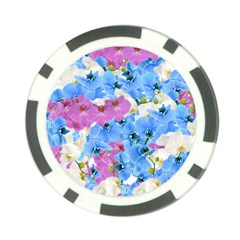 Tulips Floral Pattern Poker Chip Card Guard by paulaoliveiradesign