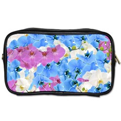 Tulips Floral Pattern Toiletries Bags 2 Side by paulaoliveiradesign