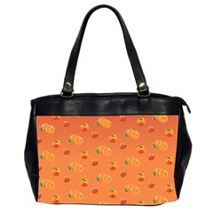Peach Fruit Pattern Office Handbags (2 Sides)  by paulaoliveiradesign