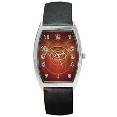 The Rusty Red Fractal Scarab Of Fiery Old Man Ra Barrel Style Metal Watch by jayaprime