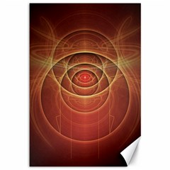 The Rusty Red Fractal Scarab Of Fiery Old Man Ra Canvas 12  X 18   by jayaprime