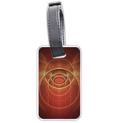 The Rusty Red Fractal Scarab Of Fiery Old Man Ra Luggage Tags (one Side)  by jayaprime