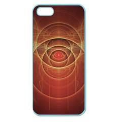 The Rusty Red Fractal Scarab Of Fiery Old Man Ra Apple Seamless Iphone 5 Case (color) by jayaprime