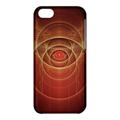 The Rusty Red Fractal Scarab Of Fiery Old Man Ra Apple Iphone 5c Hardshell Case by jayaprime
