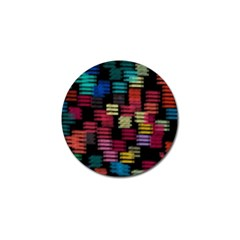 Colorful Horizontal Paint Strokes                         Golf Ball Marker (4 Pack) by LalyLauraFLM