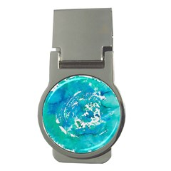 Blue Watercolors Circle                          Money Clip (round) by LalyLauraFLM