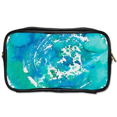 Blue Watercolors Circle                          Toiletries Bag (two Sides) by LalyLauraFLM