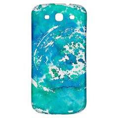 Blue Watercolors Circle                    Samsung Galaxy S Iii Flip 360 Case by LalyLauraFLM