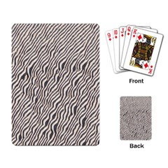 Zebra Pattern Animal Print Playing Card