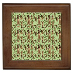 Puppy Dog Pattern Framed Tiles by BangZart