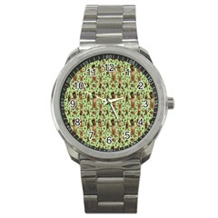 Puppy Dog Pattern Sport Metal Watch by BangZart
